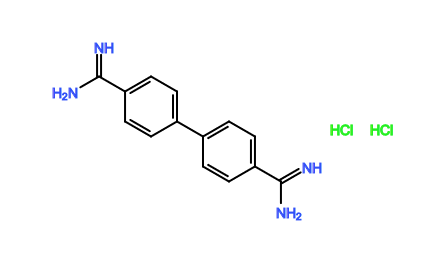 [1,1'-biphenyl]-4,4'-bis(carboximidamide) dihydrochloride