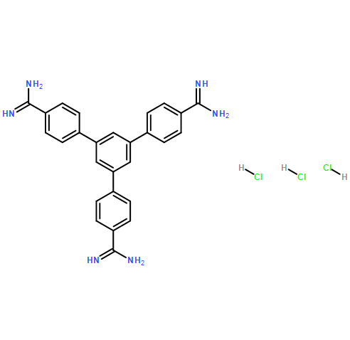 5'-(4-carbamimidoylphenyl)-[1,1':3',1''-terphenyl]-4,4''-bis(carboximidamide) trihydrochloride