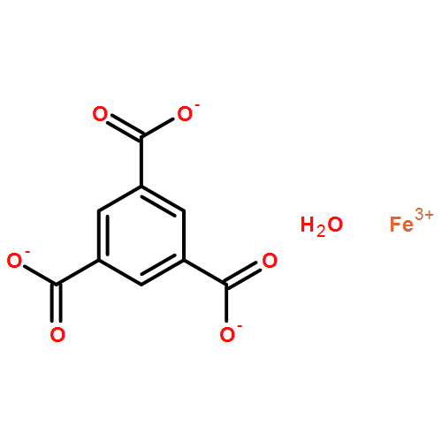 Iron(III) 1,3,5-benzenetricarboxylate hydrate, porous (F-free MIL-100(Fe), KRICT F100) [Iron trimesate]